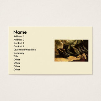 Van Gogh; Three Pairs of Shoes, Vintage Still Life Business Card