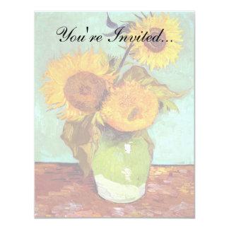 Van Gogh - Three Sunflowers In A Vase - Fine Art Card