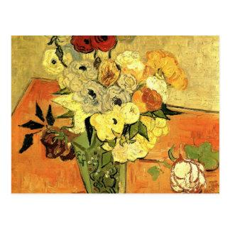 Van Gogh Todavía anémonas japonesas de los rosas