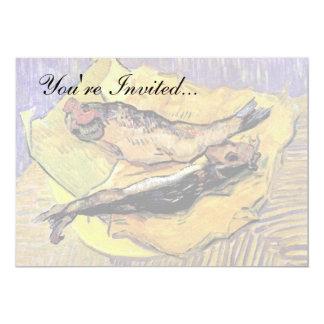 """Van Gogh - todavía arenques ahumados de la vida en Invitación 5"""" X 7"""""""