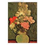 Van Gogh; Todavía florero de la vida con las flore Felicitacion