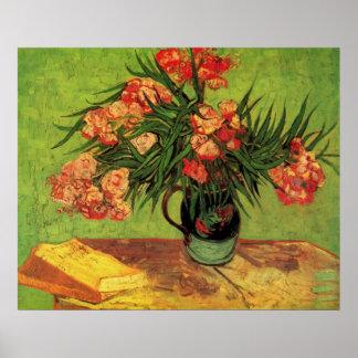 Van Gogh; Todavía florero de la vida con los Olean Posters
