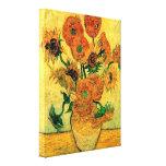 Van Gogh - todavía florero de la vida con quince g Lona Estirada Galerías