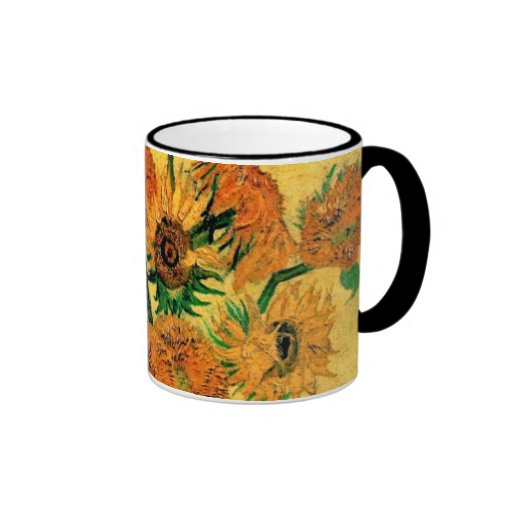 Van Gogh - todavía florero de la vida con quince Taza A Dos Colores