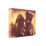 Van Gogh - todavía par de zapatos de la vida A Impresiones En Lienzo Estiradas