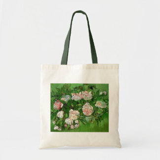 Van Gogh - todavía rosas rosados de la vida Bolsa Tela Barata