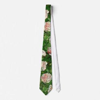 Van Gogh - todavía rosas rosados de la vida Corbatas Personalizadas