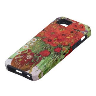 Van Gogh Todavía vida Amapolas y margaritas roja iPhone 5 Carcasa