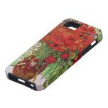Van Gogh; Todavía vida: Amapolas y margaritas roja iPhone 5 Carcasa