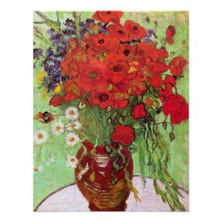 Van Gogh; Todavía vida: Amapolas y margaritas roja Anuncios Personalizados