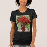 Van Gogh; Todavía vida: Amapolas y margaritas roja Camiseta