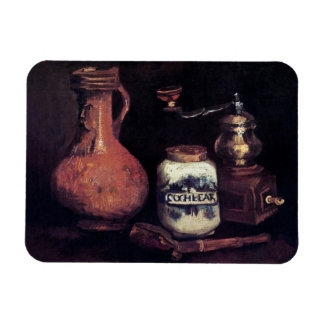Van Gogh - todavía vida con el molino de café Imán