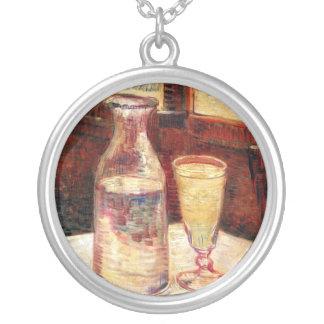 Van Gogh - todavía vida con el vidrio de ajenjo Colgante Redondo