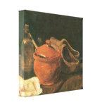 Van Gogh - todavía vida con la arcilla, la madera  Impresiones De Lienzo