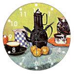 Van Gogh: Todavía vida con la cafetera azul del es Relojes De Pared