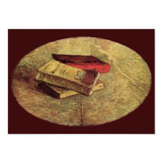 """Van Gogh; Todavía vida con tres libros, arte del Invitación 5"""" X 7"""""""