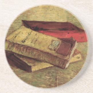 Van Gogh; Todavía vida con tres libros, arte del Posavasos Diseño