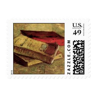 Van Gogh; Todavía vida con tres libros, arte del Sello