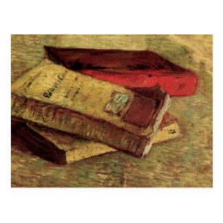 Van Gogh; Todavía vida con tres libros, arte del Postal