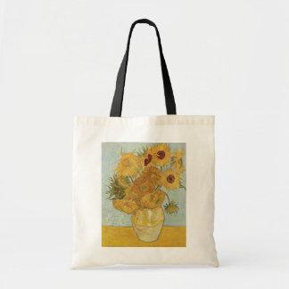 Van Gogh - todavía vida Florero con 12 girasoles Bolsa Lienzo
