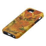 Van Gogh; Todavía vida: Florero con 15 girasoles iPhone 5 Case-Mate Coberturas