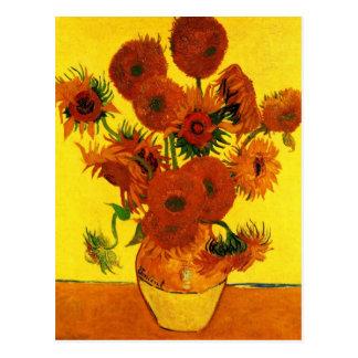 Van Gogh Todavía vida Florero con 15 girasoles Postales