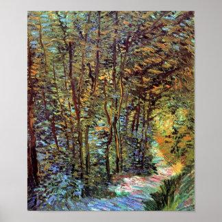 Van Gogh - trayectoria en las maderas Póster