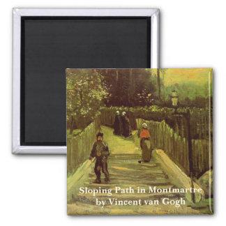 Van Gogh Trayectoria que se inclina en Montmartre Imán De Frigorífico