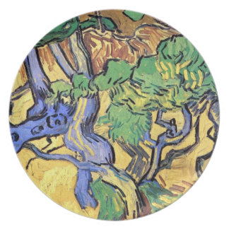 Van Gogh - Tree Roots And Trunks Plate