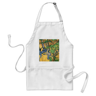 Van Gogh Tree Roots and Trunks, Vintage Fine Art Adult Apron