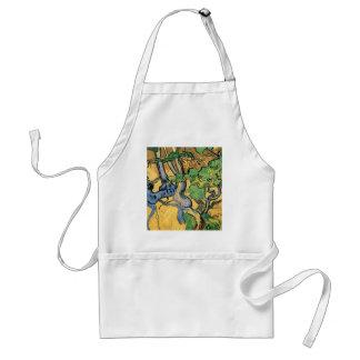 Van Gogh Tree Roots and Trunks, Vintage Fine Art Adult Apron
