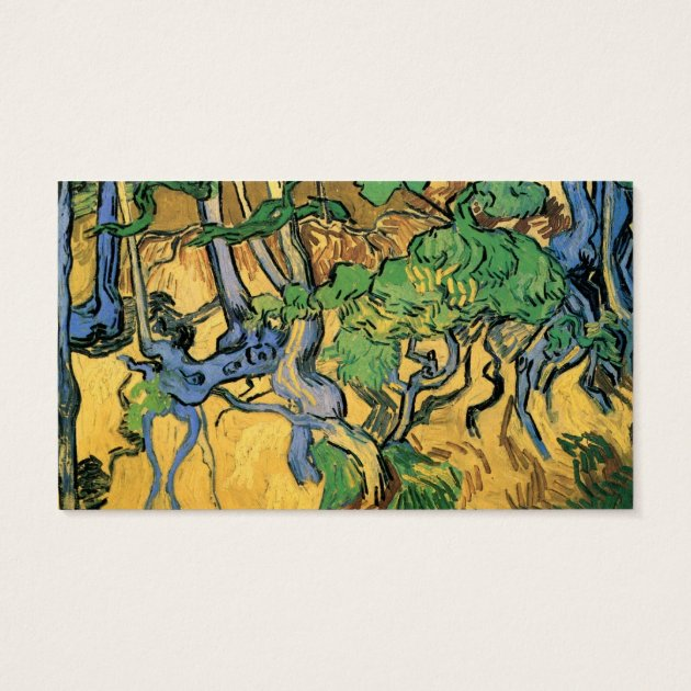 Van Gogh Tree Roots and Trunks, Vintage Fine Art Business Card ...