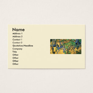 Fine art business cards templates zazzle van gogh tree roots and trunks vintage fine art business card reheart Gallery