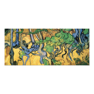 Van Gogh Tree Roots and Trunks, Vintage Fine Art Personalized Invitation