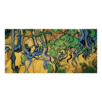 Van Gogh Tree Roots and Trunks, Vintage Fine Art Poster