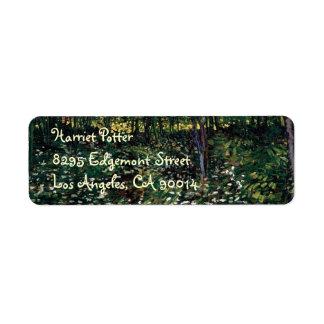 Van Gogh Trees and Undergrowth Return Address Label