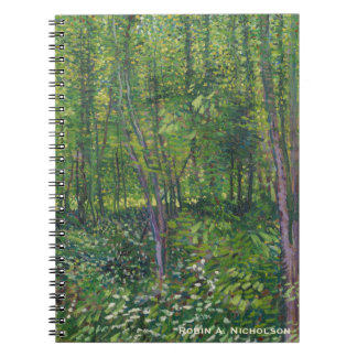 Van Gogh Trees and Undergrowth Personalized Spiral Notebook