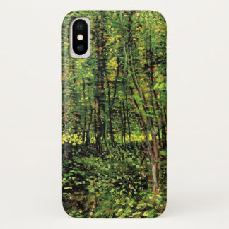 Van Gogh Trees and Undergrowth, Vintage Fine Art iPhone X Case