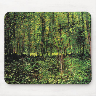 Van Gogh Trees and Undergrowth, Vintage Fine Art Mouse Pad