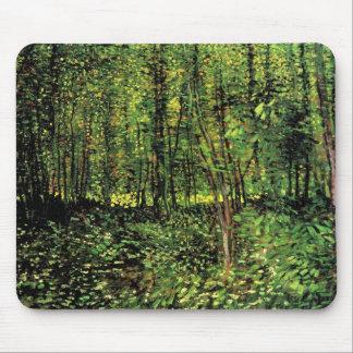 Van Gogh Trees and Undergrowth, Vintage Fine Art Mouse Pad