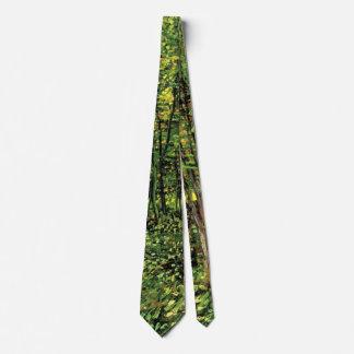 Van Gogh Trees and Undergrowth, Vintage Fine Art Neck Tie