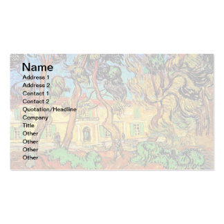 Van Gogh - Trees In The Garden of St Paul Hospital Double-Sided Standard Business Cards (Pack Of 100)