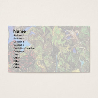 Van Gogh - Trees In The Garden of St Paul Hospital Business Card