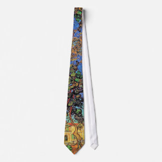 Van Gogh - Trees In The Garden of St Paul Hospital Neck Tie