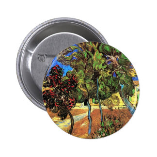 Van Gogh - Trees In The Garden of St Paul Hospital Pinback Button