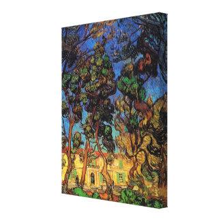 Van Gogh Trees in the Garden, Saint Paul Hospital Canvas Print