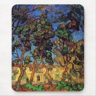 Van Gogh Trees in the Garden, Saint Paul Hospital Mouse Pad
