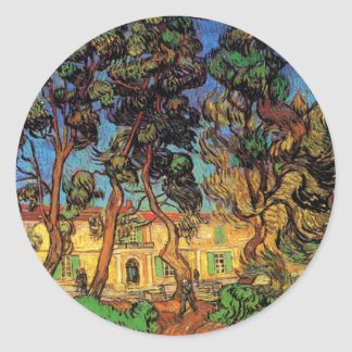 Van Gogh Trees in the Garden, Saint Paul Hospital Stickers