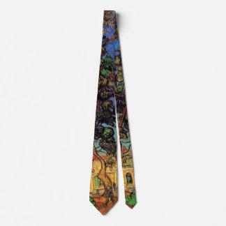 Van Gogh Trees in the Garden, Saint Paul Hospital Tie