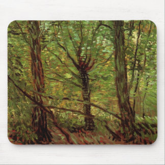 Van Gogh Trees Undergrowth, Vintage Impressionism Mouse Pads
